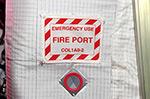Таблички на МКС. Пожарный порт.