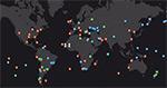 Карта фотографий Земли 40/41 экспедиций МКС