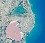 Испания. Соленые озёра Торревьехи.