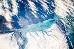 Зимняя дельта реки Санта Круз, Аргентина