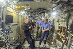 Передача смены 56-й экспедиции на МКС