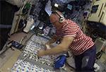 Установка защитных шторок от радиации в личной каюте МКС